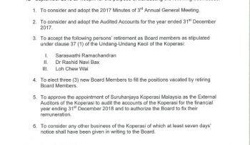 Educoop Notice of 4th Annual General Meeting